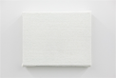 Bermejo focuses on the systems that facilitate art (including materials, techniques, funding, and the artworld establishment) and executes projects that call its very structure into question. Here the artist presents <i>Blank</i>, which appears to be a canvas but is in fact made entirely of white paint, probing the essence of painting (a medium that cannot exist without a support surface, typically a canvas) and the nature of minimalism.